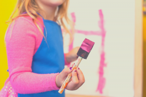 girl with a paint brush