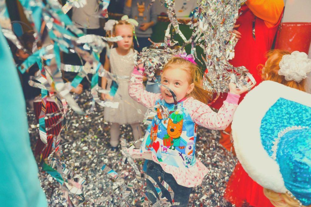 girl enjoying her birthday party